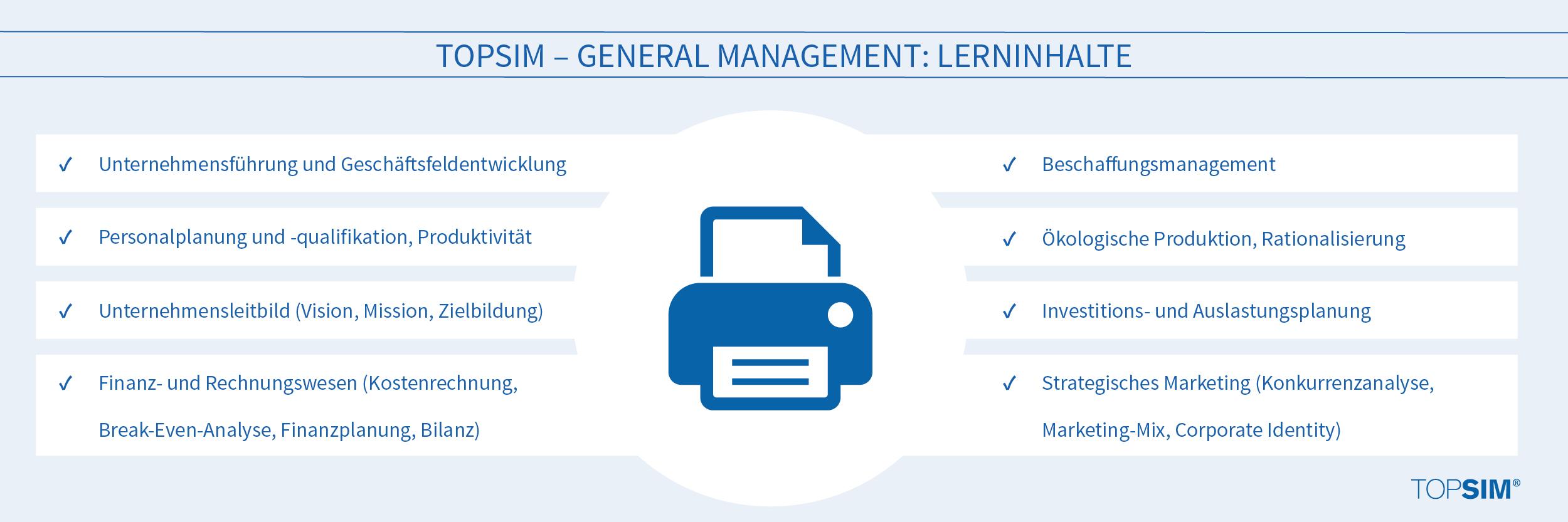 Lerninhalte TOPSIM General Management
