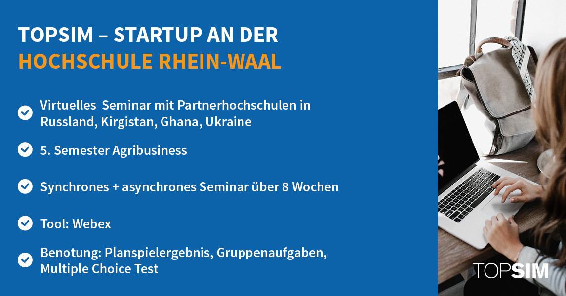 Infografik: Startup an der Hochschule Rhein-Waal TOPSIM
