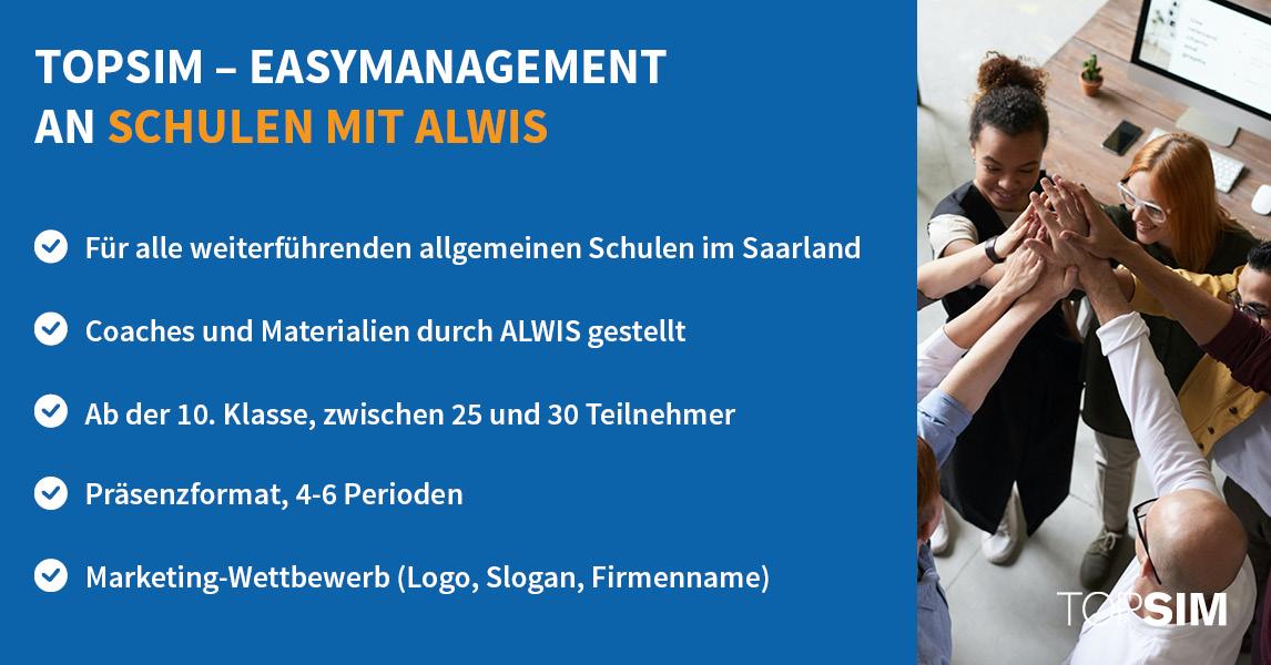 Infografik easyManagement an Schulen mit ALWIS