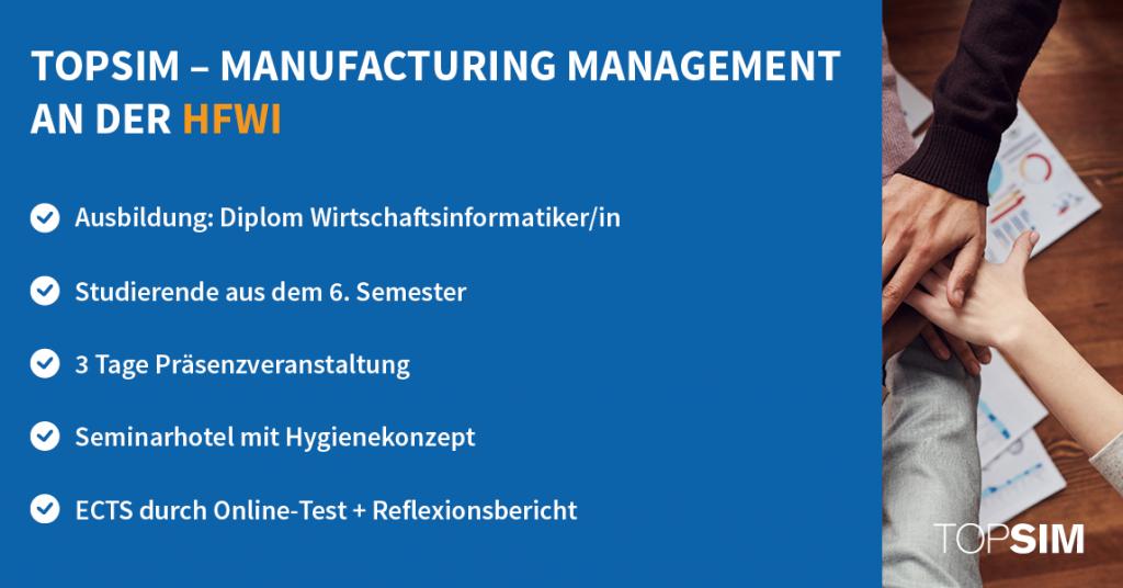 TOPSIM – Manufacturing Management an der HFWI